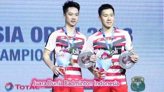 Prestasi Kevin Dan Marcus Juara Dunia Badminton Indonesia